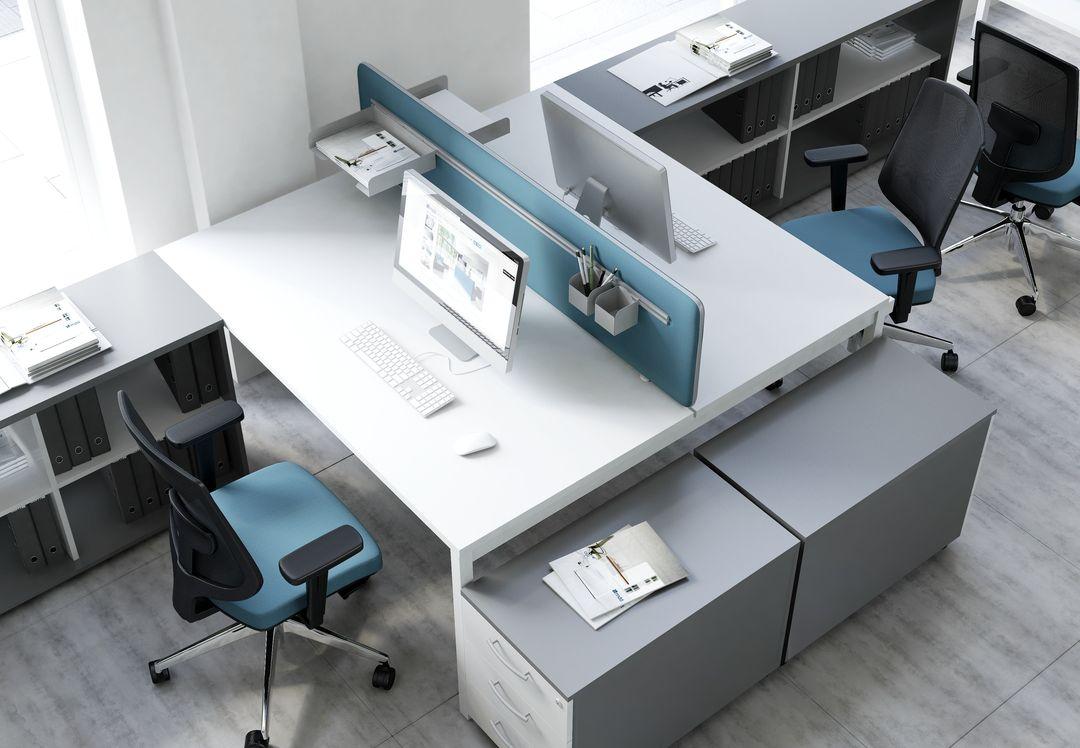 schreibtisch f r 2 personen ogi y moderne b roeinrichtung teamarbeitsplatz b ro ebay. Black Bedroom Furniture Sets. Home Design Ideas