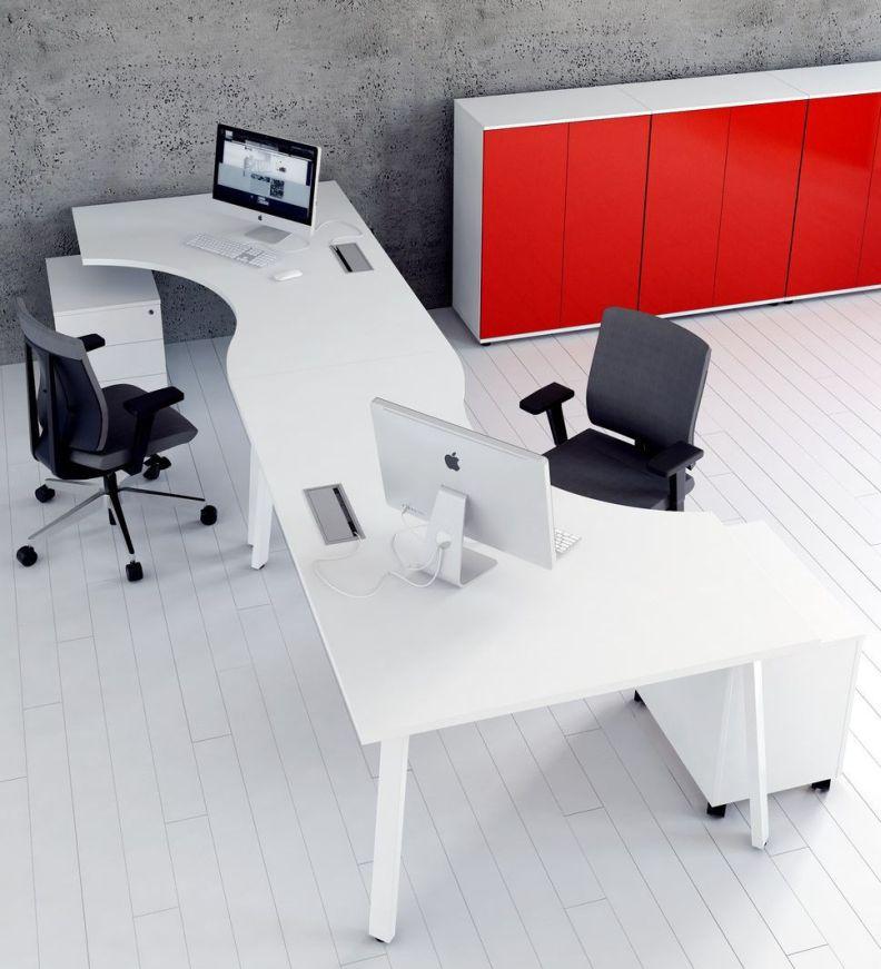 schreibtisch ogi a f r 3 personen teamarbeitsplatz b roeinrichtung hochwertig ebay. Black Bedroom Furniture Sets. Home Design Ideas