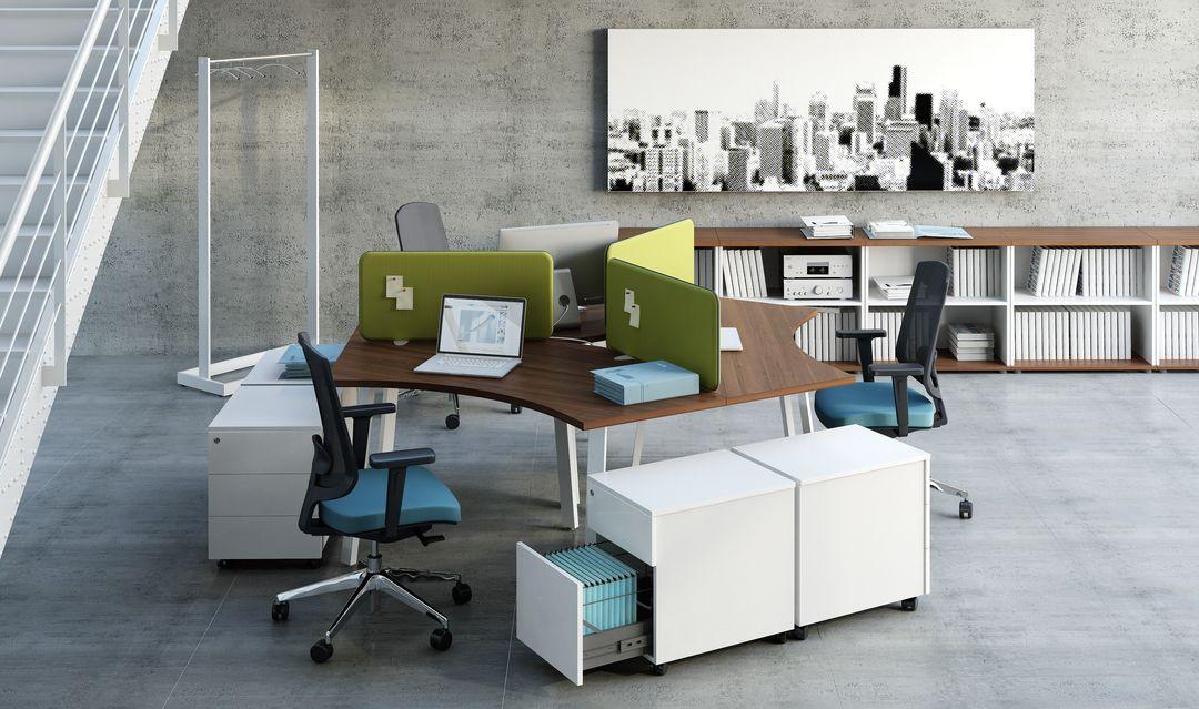 schreibtisch ogi a f r 3 personen teamarbeitsplatz. Black Bedroom Furniture Sets. Home Design Ideas