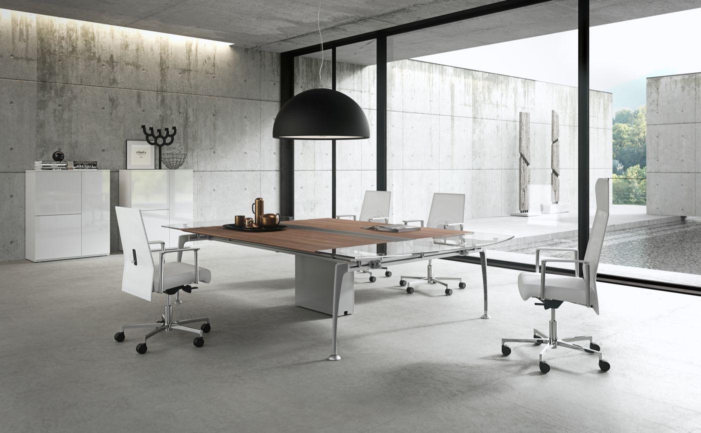 Design Schreibtisch TIPER Bürotisch italienische Büromöbel ...