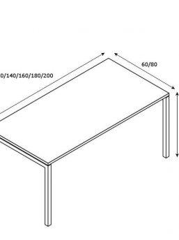 Schreibtisch-Gate-Abmessungen