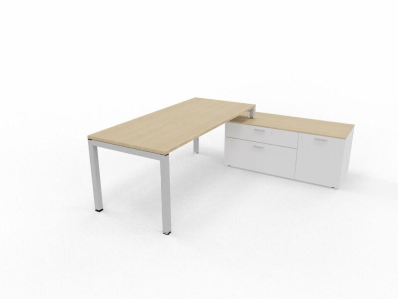 Schreibtisch-mit-Sideboard-Gate-Eiche-Weiss