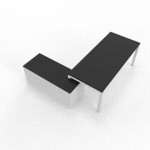 Schreibtisch-mit-Sideboard-Gate-Schwarz-Weiss