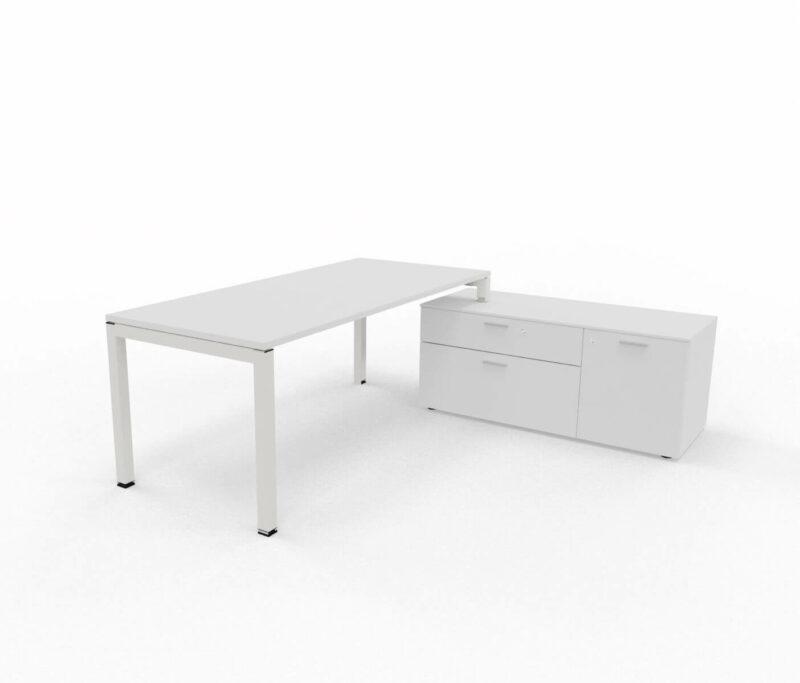 Schreibtisch-mit-Sideboard-Gate-Weiss