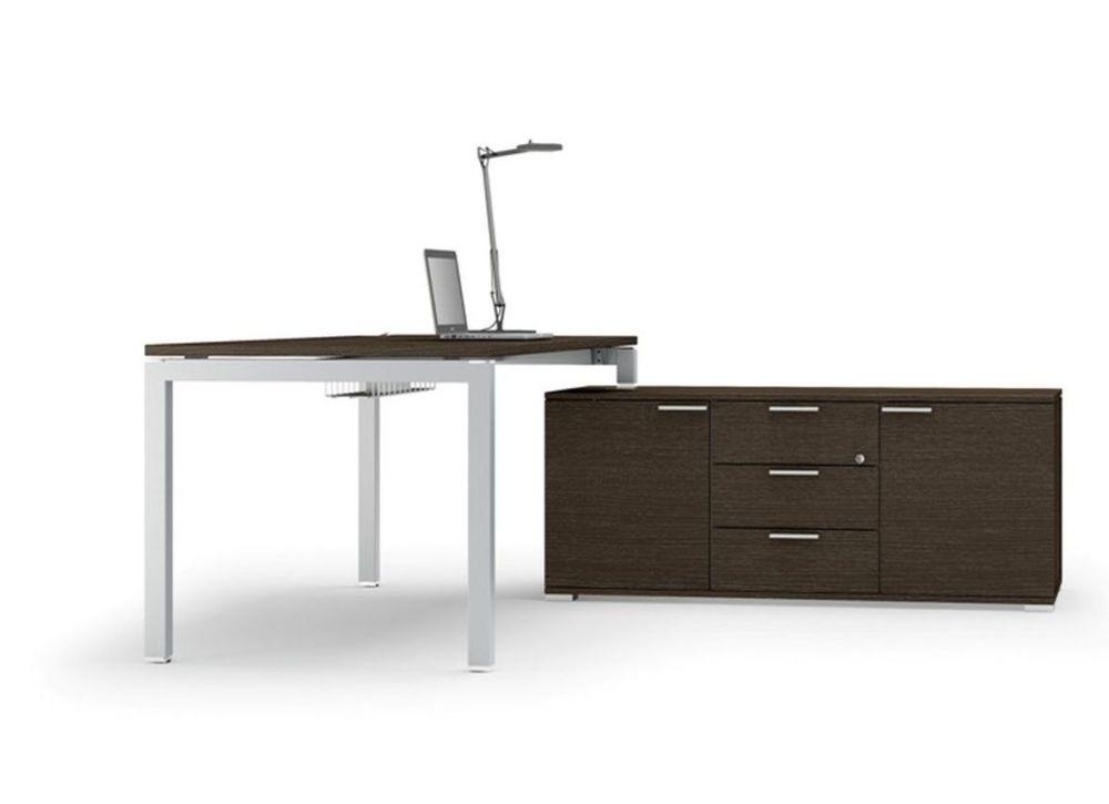 schreibtisch gate mit sideboard klassiker direkt. Black Bedroom Furniture Sets. Home Design Ideas