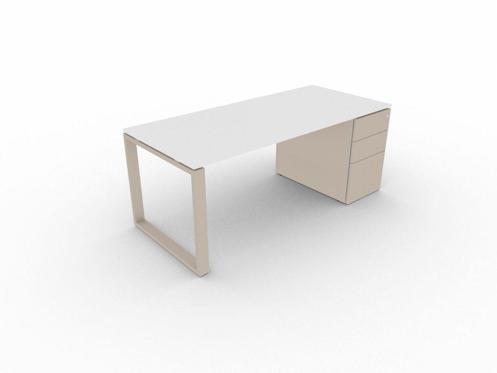Schreibtisch-mit-Unterbaucontainer-Loopy-Weiss-Tortora