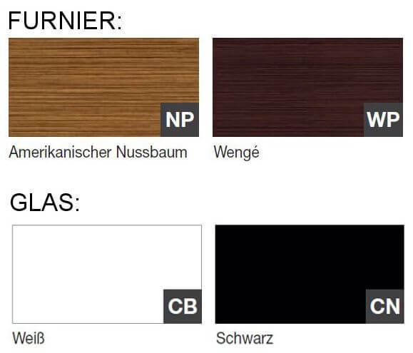 Farben-Arche-Furnier-Glas