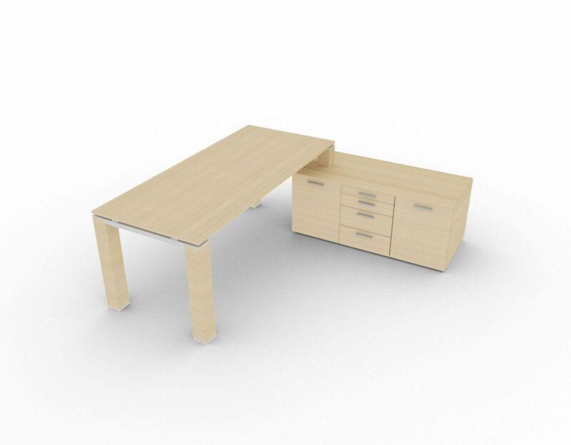 Schreibtisch-Jet-mit-kleinem-Sideboard-Eiche