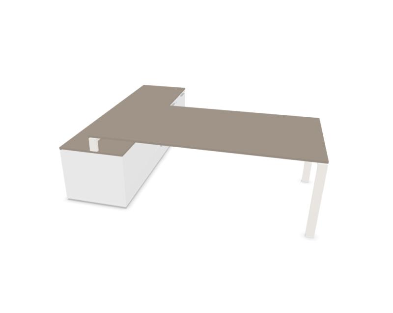 Schreibtisch-mit-Sideboard-Glider-Weiss-Tortora