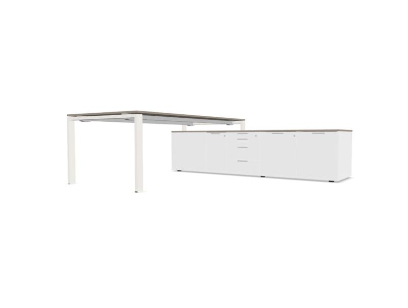 Schreibtisch-mit-Sideboard-Glider-Weiss-Tortora_