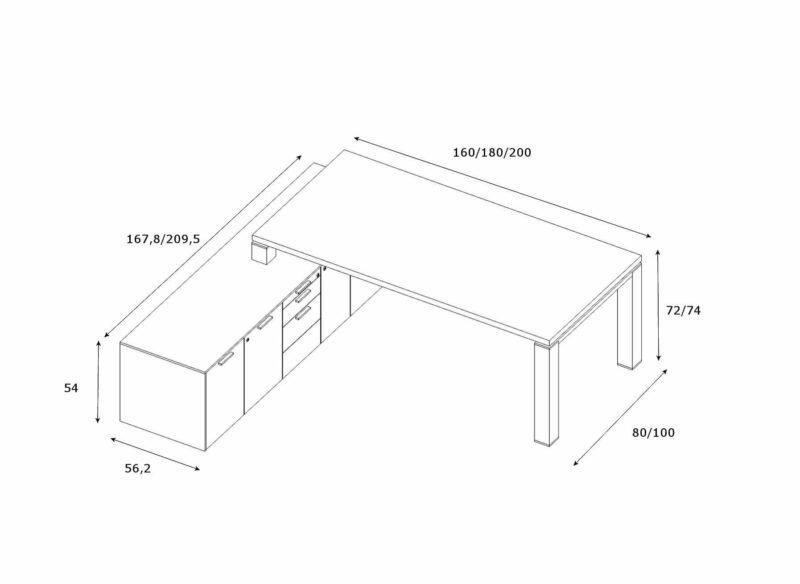 Schreibtisch-mit-Sideboard-Jet-Abmessungen