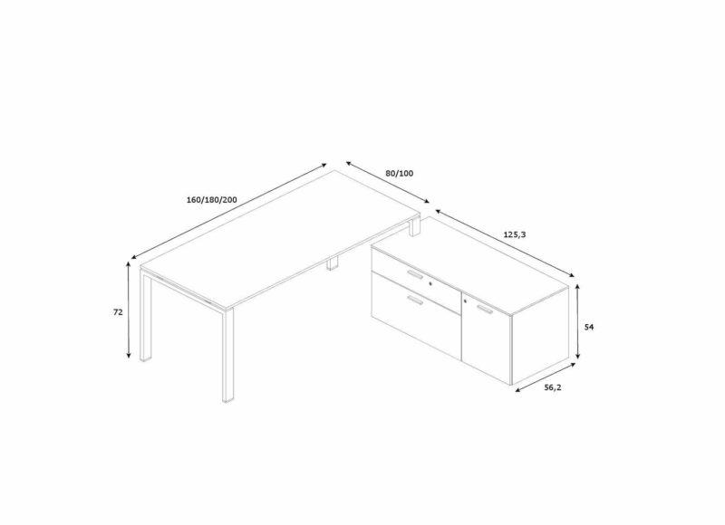 Schreibtisch-mit-kleinem-Sideboard