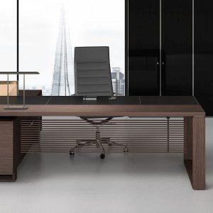Arche-Schreibtisch-Sideboard-Leder