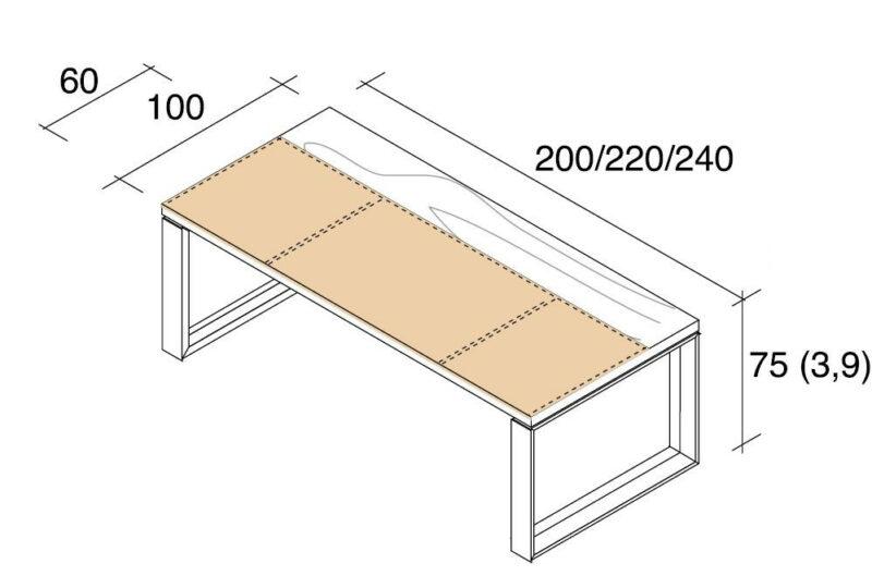 Schreibtisch Arche Leder-Holz_4