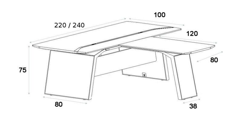 Schreibtisch mit Besprechungstisch Metar_7