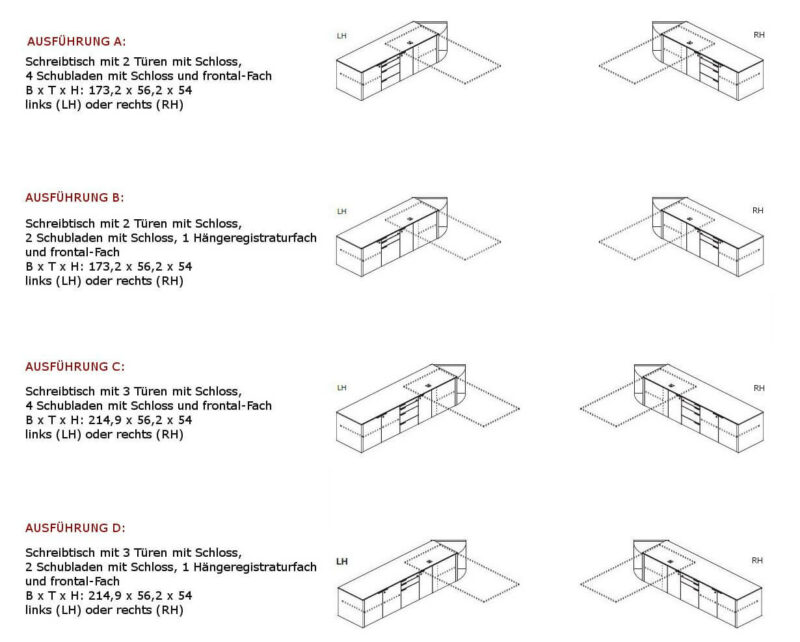 Sideboards-Metar-Ausfuehrungen