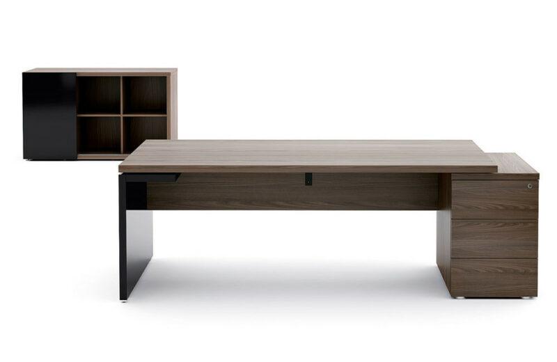 Schreibtisch mit Container