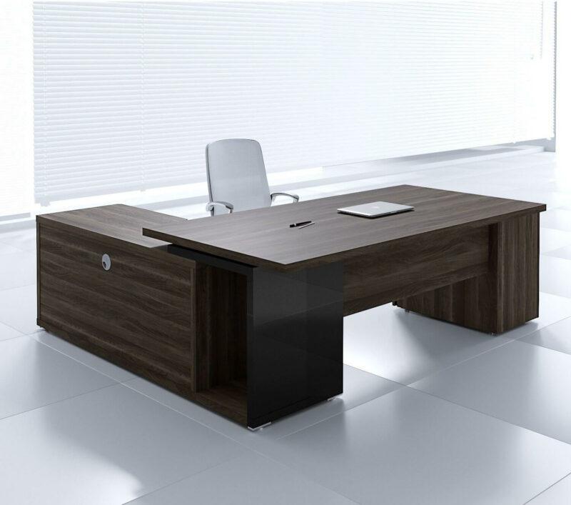Schreibtisch mit Sideboard und Unterbaucontainer Faro