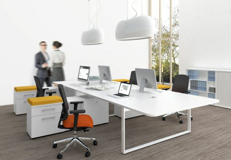 2 Personen Schreibtisch mit Sideboards YAN_Z