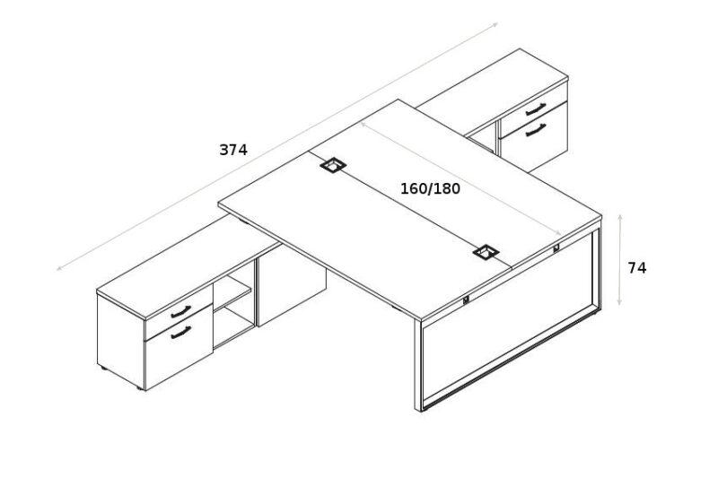 Schreibtisch fuer 2 Presonen Yan_Z_5