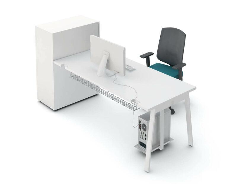 Schreibtisch mit Container Cargo