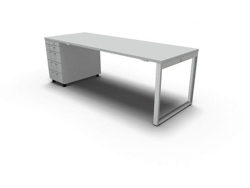schreibtisch mit container yan z klassiker direkt chefzimmer b rom bel funktionsm bel. Black Bedroom Furniture Sets. Home Design Ideas