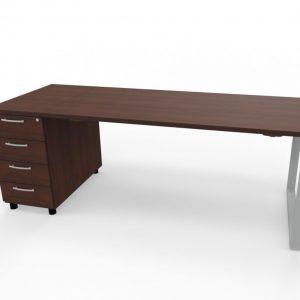 Schreibtisch mit Container Z1