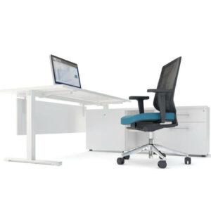 Schreibtisch mit Sideboard YAN_T_1