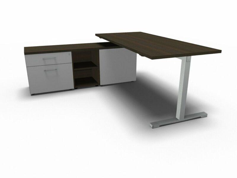 Schreibtisch mit Sideboard YAN_T_3