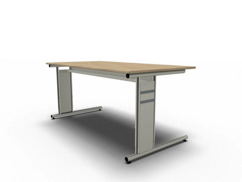 Schreibtisch-Neapel-eiche-C-Fuss-Gestell