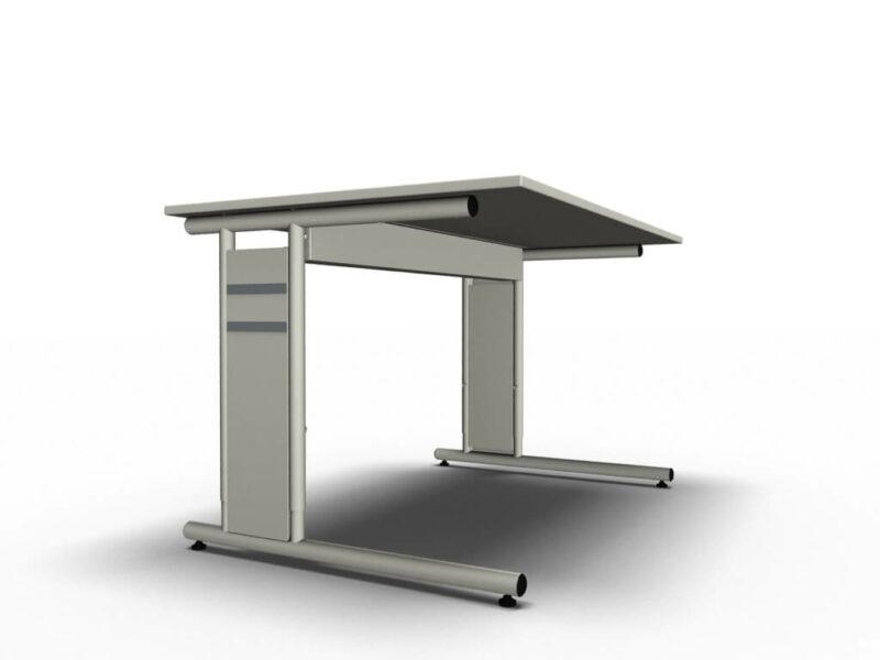 Schreibtisch-Neapel-weiss-C-Fuss-Gestell