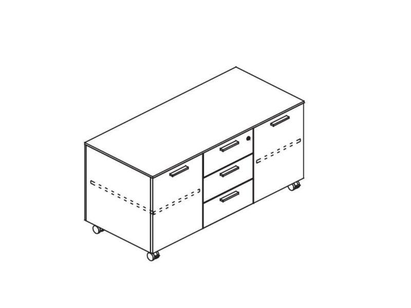 Multifunktionscontainer_auf_Rollen_2_Türen-2_Fachboeden
