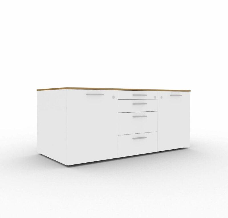 Sideboard-Bralco-Lowboard-Nussbaum-Weiss