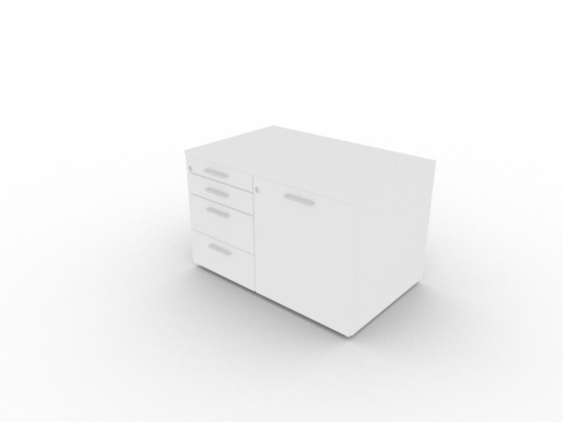 Sideboard-klein-Weiss-Weiss