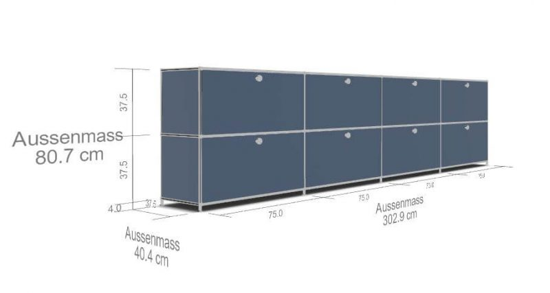 Sidebord-System4-8-Schubladen