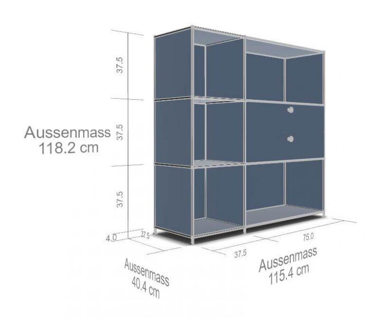System4-Regal-2-Schubladen