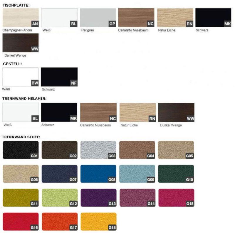 Trennwand-Farben