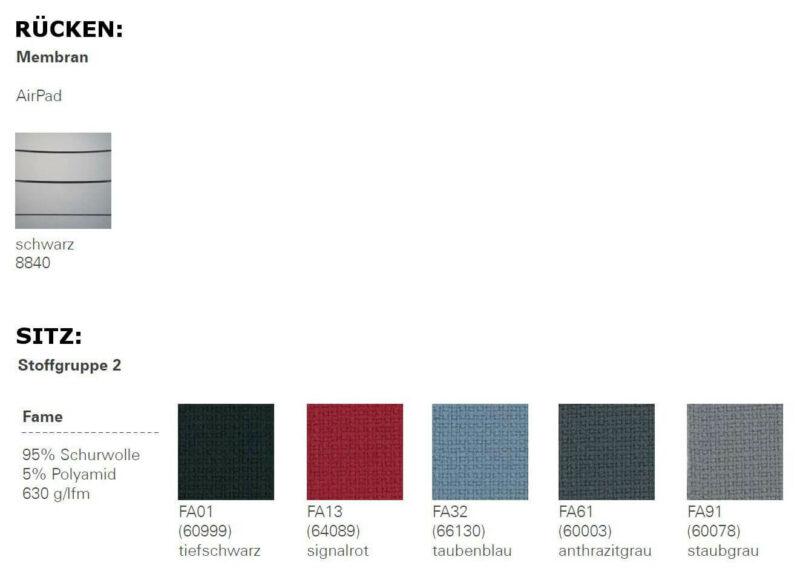Farben-Drehstuhl-Aipad