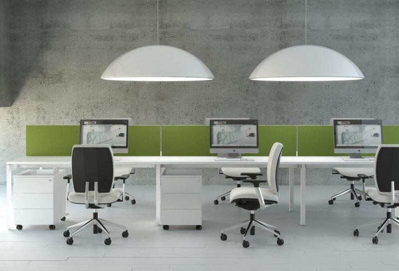 Bürolampe Sunbeam Gruppenarbeitsplatz