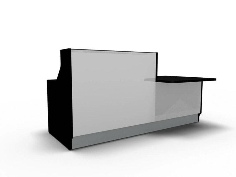 Empfangstisch-Deno-LIN34L-schwarz-weiss