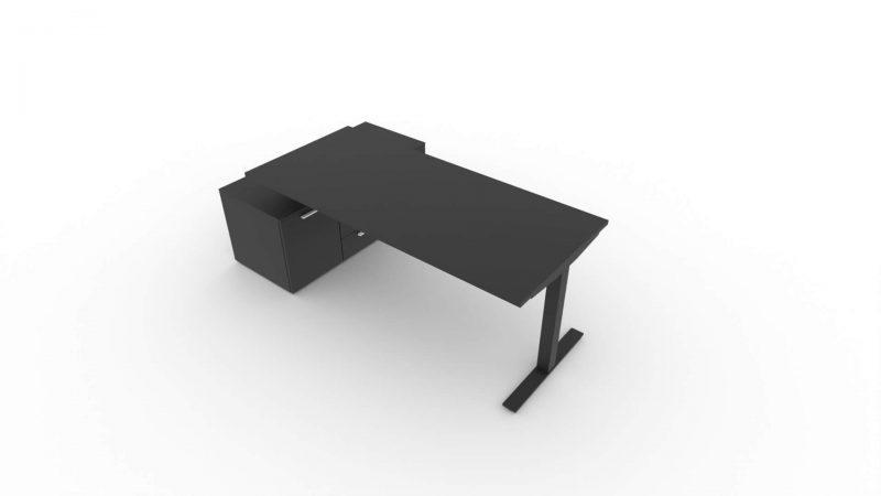 Schreibtisch-Winglet-mit-Sideboard-Schwarz