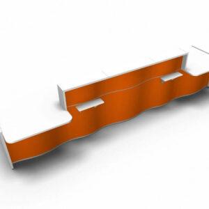 Empfangstheke-Sinni-orange