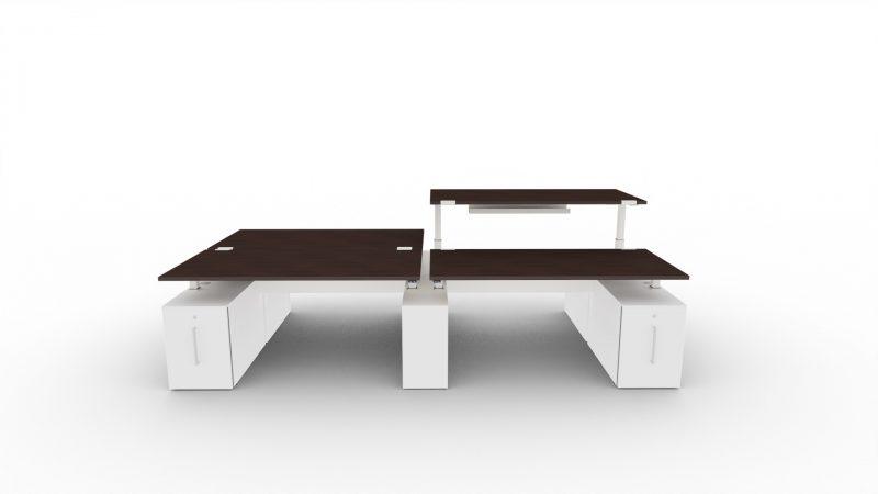 Schreibtisch-4-Personen-ohne-Trennwaende-Tischplatte-Wenge