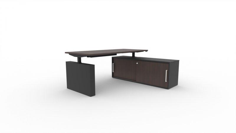 Steh-Sitztisch-Winglet-Wenge-Schwarz