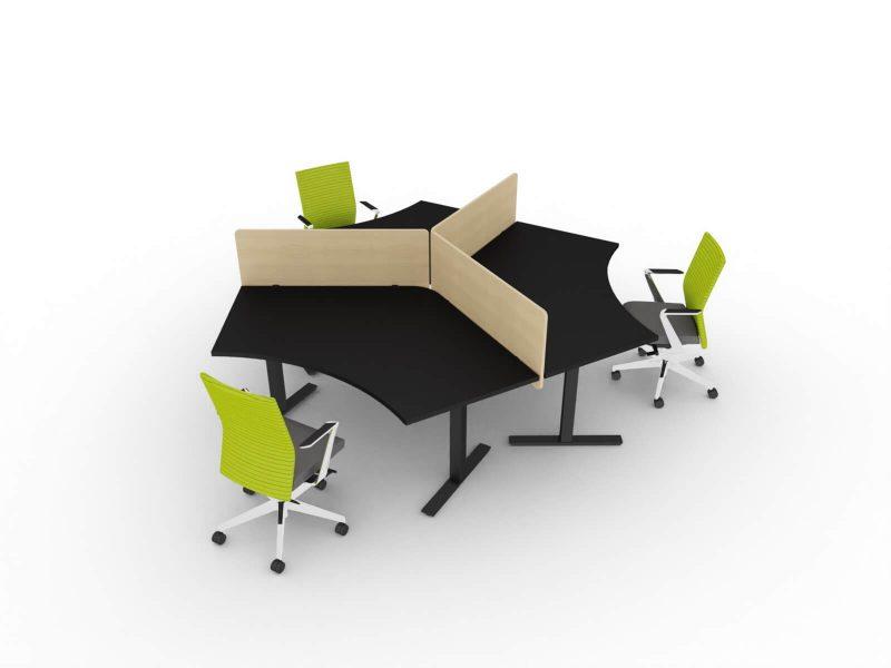 Teamarbeitsplatz-3-Personen-Winglet_Tischplatte-schwarz