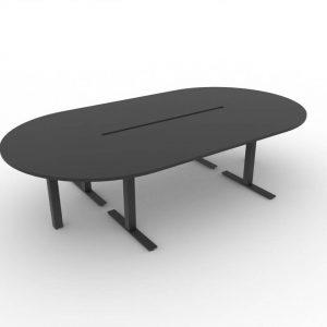 Konferenztisch oval Winglet schwarz