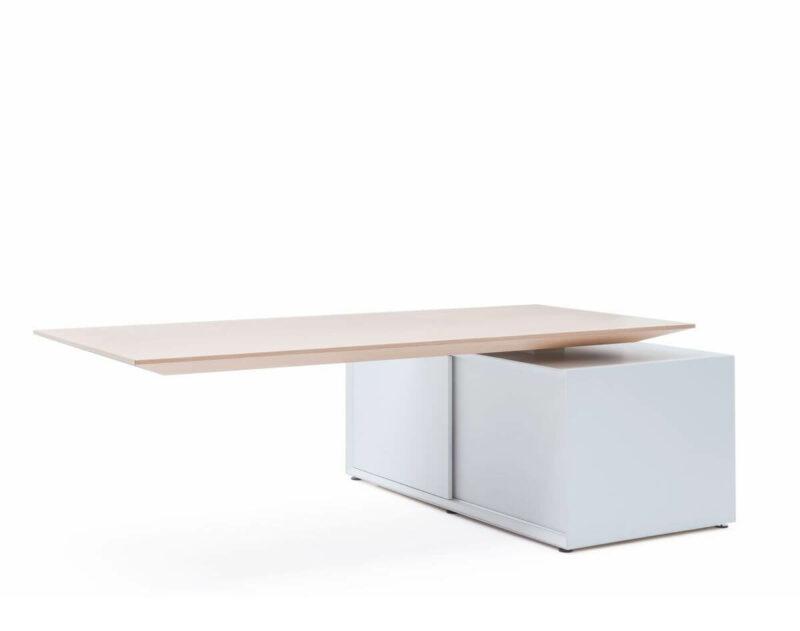Schreibtisch-hoehenverstellbar-Gravity-Ulme-Weiss