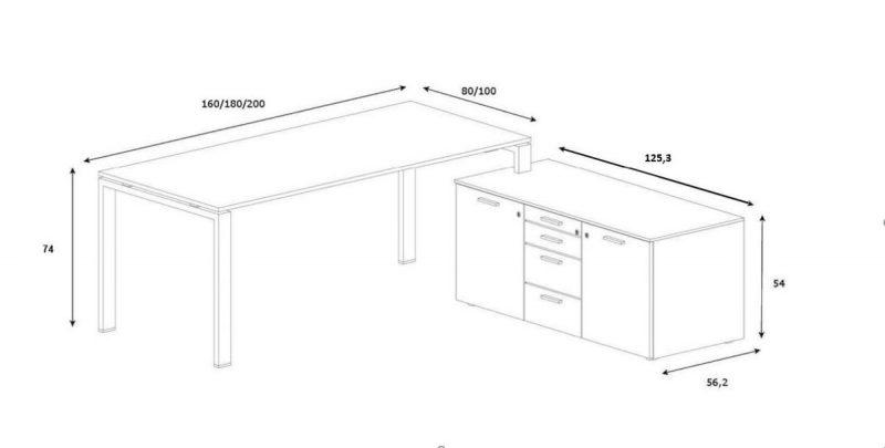 Schreibtisch-mit-Sideboard-Glider-Melamin1