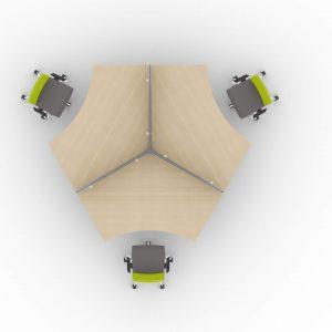 Schreibtisch für 3 Personen-elektrisch-hoehenverstellbar-Winglet