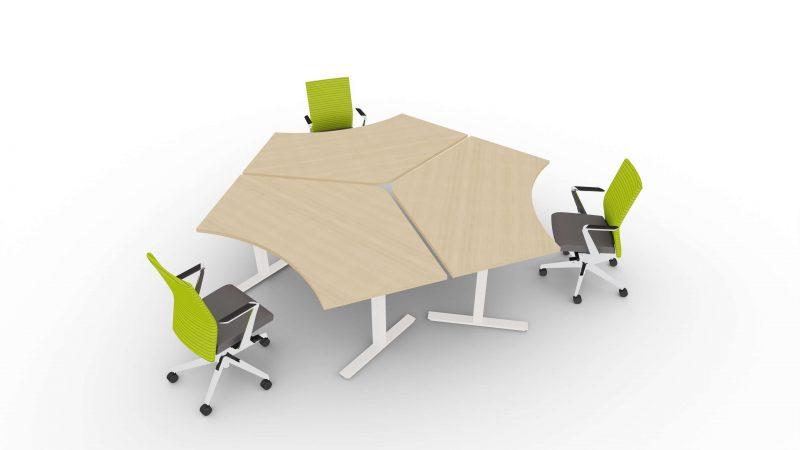 Schreibtisch-fuer-3-Personen-elektrisch-hoehenverstellbar-Winglet-ohne-Paneele